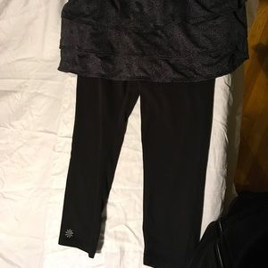 Athleta black and gray skirt with leggings size S